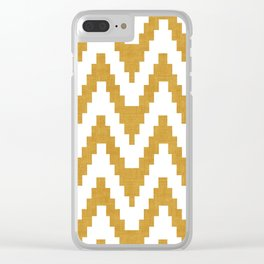 Twine in Yellow Clear iPhone Case