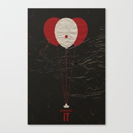 Pennywise the Clown - Stephen King's IT Inspired vintage movie poster Canvas Print