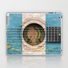 Old Vintage Acoustic Guitar with Guatemalan Flag Laptop & iPad Skin