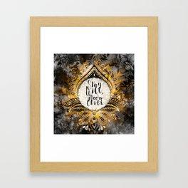 Gold Gypsy Moon Stay Wild Moon Child Framed Art Print