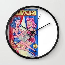 Bra Wars Wall Clock