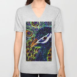 Peacock Stare Unisex V-Neck