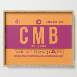 Baggage Tag B - CMB Colombo Sri Lanka Serving Tray