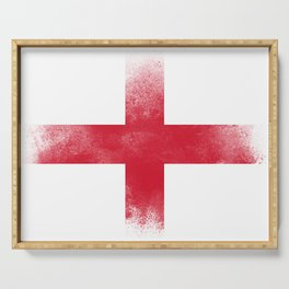 England flag isolated Serving Tray