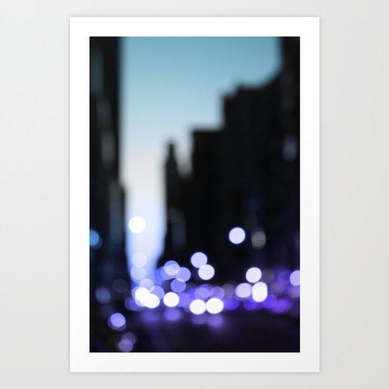 Big lights will inspire you Art Print