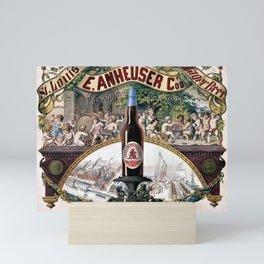 Vintage 1879 St. Louis Anheuser Brewing Lithograph Wall Art Mini Art Print