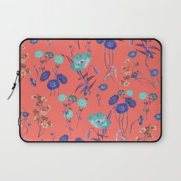 Living Coral Floral Pattern.Color of year 2019 Laptop Sleeve