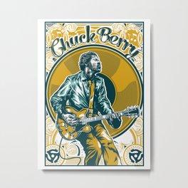 Chuck Berry All Hail Rock N Roll Metal Print