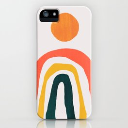 Sunrise over rainbow hill iPhone Case