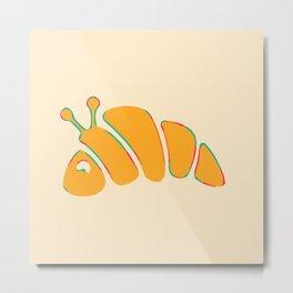 Neon Croissanterpillar Metal Print