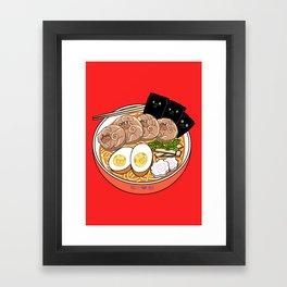 Ramen Pugs Framed Art Print