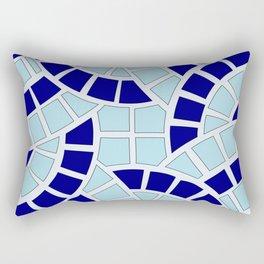 Mosaico azul Rectangular Pillow