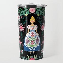 Folk Art Forest Fairy Tale Fraulein Travel Mug