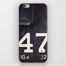 47 Red Window iPhone & iPod Skin