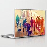 best friends Laptop & iPad Skins featuring Best friends by takmaj