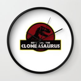 Billy And The Cloneasaurus Wall Clock