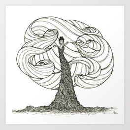 Dryad- Wind Mover Art Print