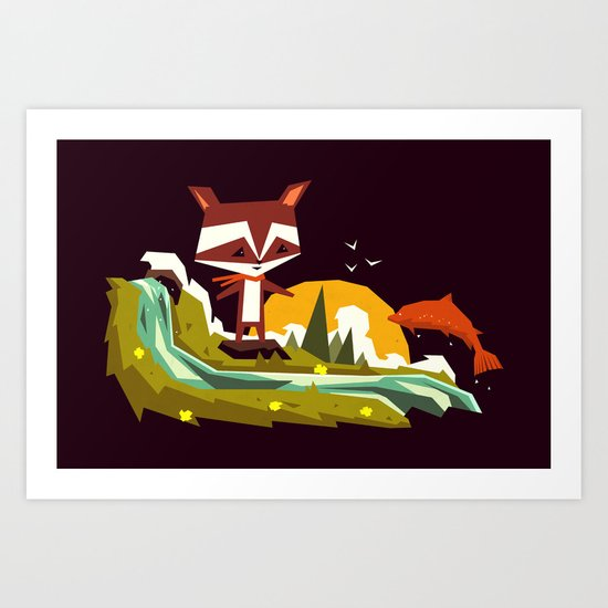 Welcome home mister Salmon! Art Print