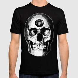 Third Eye Bones (Black and White Edition) T-shirt