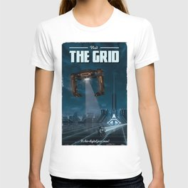 The Grid (Tron: Legacy) Travel Poster T-shirt