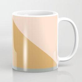 Triangles in Blush, Gray, and Honey Coffee Mug