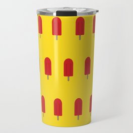 Red Popsicles - Yellow Background Travel Mug