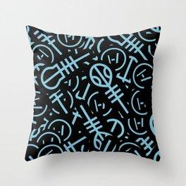 TØP Stickers - Original Logo Blue Throw Pillow