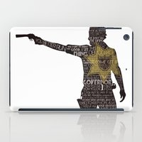 rick grimes iPad Cases featuring Rick Grimes with Quotes by rlc82