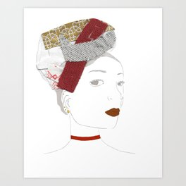 Brune Fillette Art Print