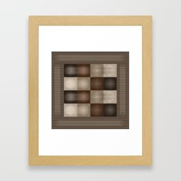Abstract Earth Tones Framed Art Print