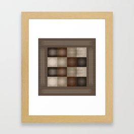 Abstract Earth Tones Framed Art Print