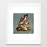 megan lara Framed Art Prints featuring Lara by poopbird