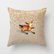 It's Snowing, my Deer Throw Pillow