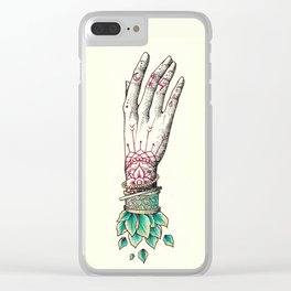 Crystal Hands Clear iPhone Case