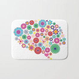 Flower brain Bath Mat