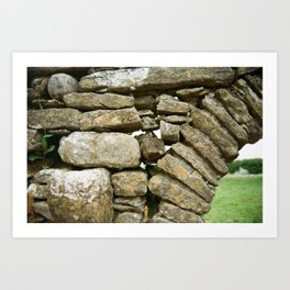 St. Dubhan's Church Ruins Art Print