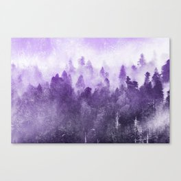 Ultra Violet Adventure Forest Canvas Print