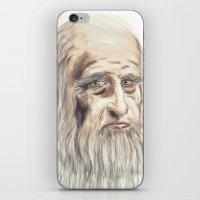 da vinci iPhone & iPod Skins featuring Leonardo da Vinci Colorful by André Minored