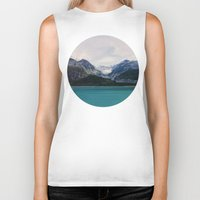 alaska Biker Tanks featuring Alaska Wilderness by Leah Flores