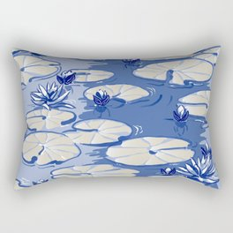 Monets Waterlilies, Giverny, France Rectangular Pillow