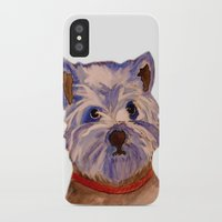 westie iPhone & iPod Cases featuring West highland terrier Westie dog love by Gooberella