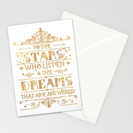 To the Stars - White Stationery Cards