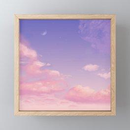 Sky Purple Aesthetic Lofi Framed Mini Art Print