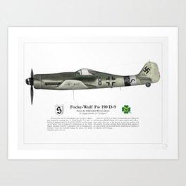 Fw 190 D-9 - Werner Zech Art Print