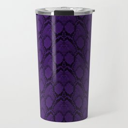 Purple and Black Python Snake Skin Travel Mug