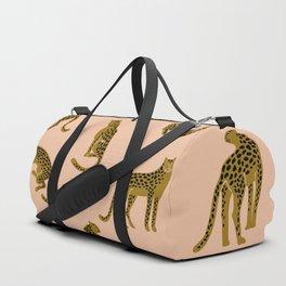 Blush Leopard Pattern Duffle Bag