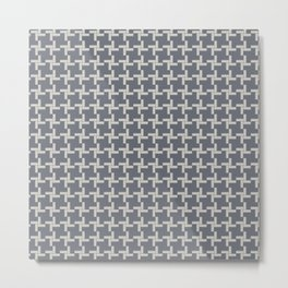 Modern Grey Pin wheel Metal Print