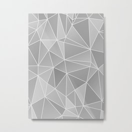 Geo Pattern (Silver Sand and White) Metal Print