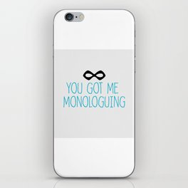 Syndrome Monologuing iPhone Skin