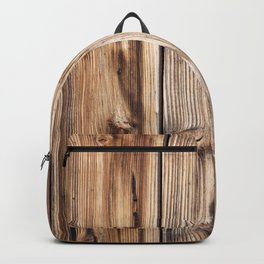 Wood pattern Backpack